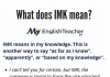 what does imk mean