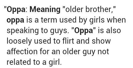 what does oppa mean