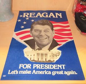 reagan make america great again campaign poster